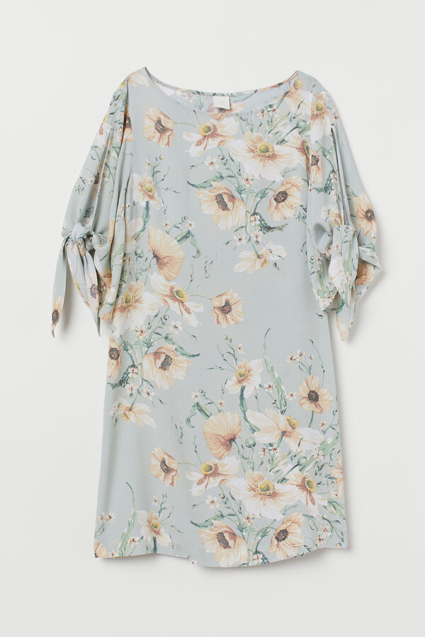H&M Dress with Tie Sleeves