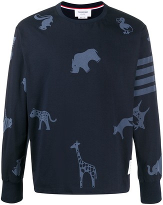 Thom Browne icon print oversized long sleeve T-shirt