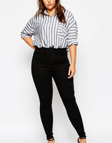 Asos High Waisted Sculpt Me Jeans In Black