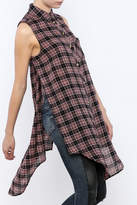 Velvet Heart Cannes Plaid Tunic