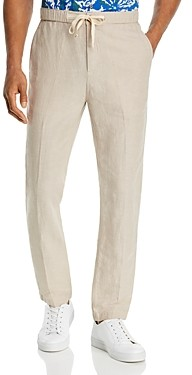 John Varvatos Robbie Drawstring Slim Fit Linen Pants