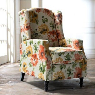 Red Barrel Studio Allee Manual Recliner Fabric: Blossom 100% Polyester