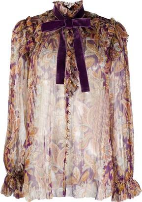 Zimmermann Ladybeetle ruffled chiffon blouse
