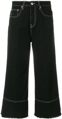 MSGM cropped flare jeans