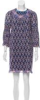 Anna Sui Silk-Blend Shift Dress