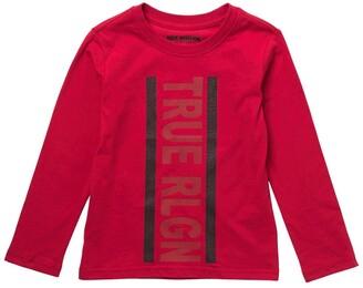True Religion Stripe Logo Long Sleeve Shirt