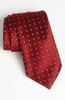 Ermenegildo Zegna Woven Silk Tie Red Regular