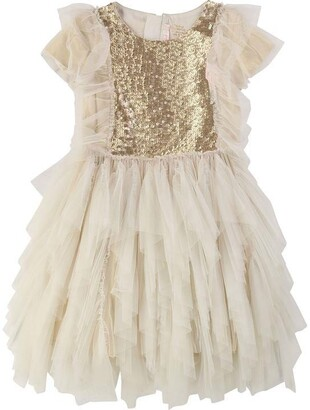 Billieblush Girls Golden Shiny Dress