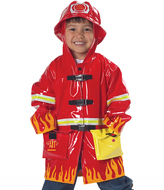 Kidorable Red Firefighter Raincoat - Toddler & Boys