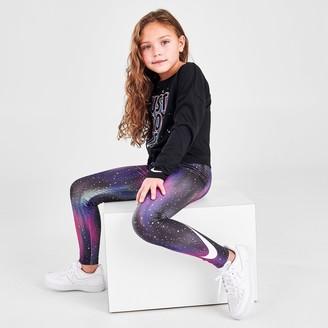 Nike Girls' Little Kids' Allover Print Light Up The Sky Leggings