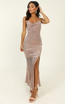 Showpo Stop And Stare dress in gold sequin - 10 (M) Dresses