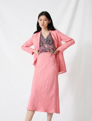Maje Satiny jacquard maxi dress