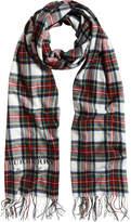 Burberry oversized tartan scarf