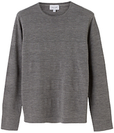 Jigsaw Merino Tubular Stripe Jumper, Grey Melange