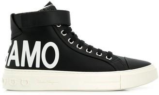 Salvatore Ferragamo Logo Hi-Top Sneakers