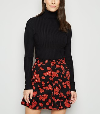 New Look Urban Bliss Floral Frill Mini Skirt