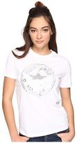 Converse Metallic Chuck Patch Short Sleeve Crew Tee Women's T Shirt