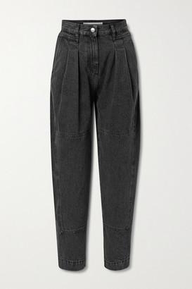 IRO Vangir Pleated High-rise Tapered Jeans - Black