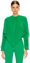 Stella McCartney Silk Crepe Top in Sparkle Green | FWRD