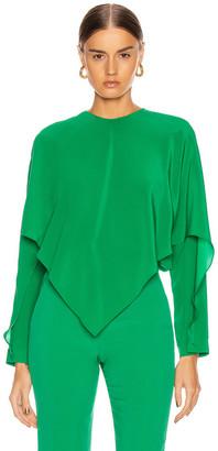 Stella McCartney Silk Crepe Top in Sparkle Green | FWRD