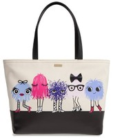 Kate Spade Imagination Monsters - Francis Canvas Tote - None