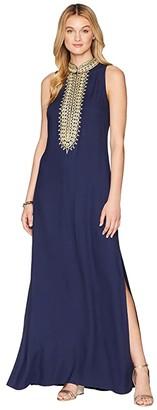 Lilly Pulitzer Jane Maxi Dress (True Navy) Women's Dress