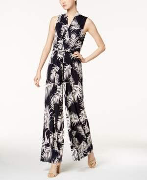 Jessica Howard Printed Belted Jumpsuit