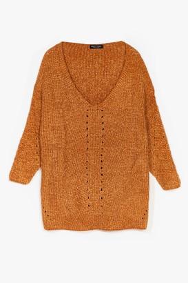 Nasty Gal Womens Luxe Good to Us Plus Knit Jumper - Metallics - 22, Metallics