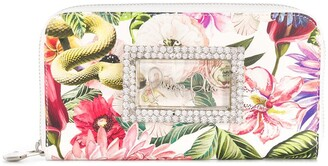 Philipp Plein Crystal Floral Continental Wallet
