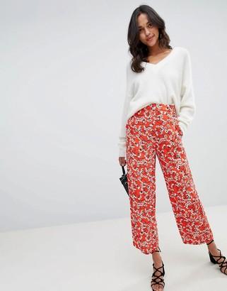 Vila Floral Wide Leg PANTS