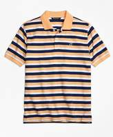 Brooks Brothers Double Stripe Pique Polo Shirt