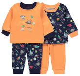 George 2 Pack Space Print Pyjamas