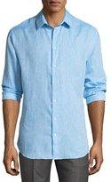 Giorgio Armani Melange Flax Linen Sport Shirt