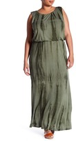 Bobeau Knit Tie-Dye Maxi Dress (Plus Size)