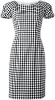 Blumarine shortsleeved checked dress - women - Cotton/Spandex/Elastane - 50