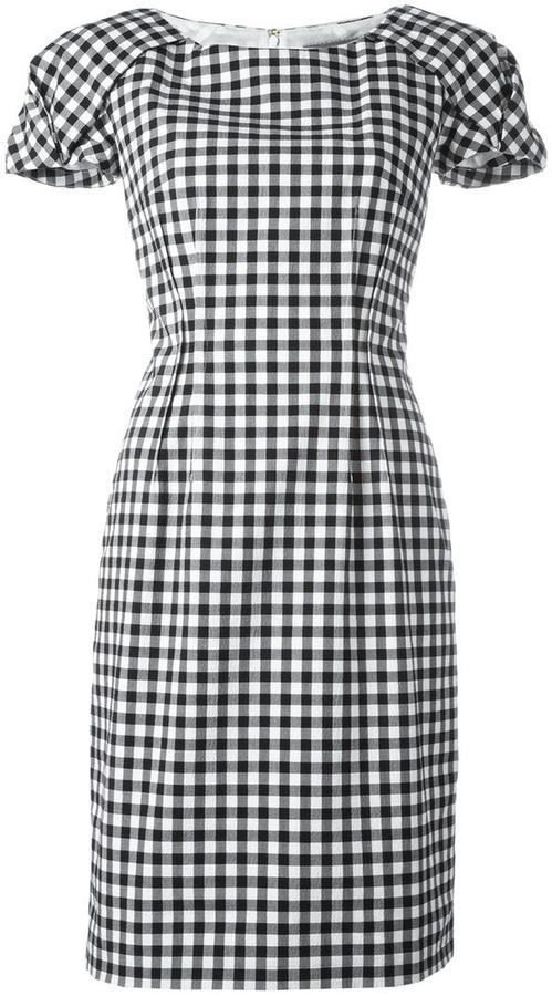 Blumarine shortsleeved checked dress