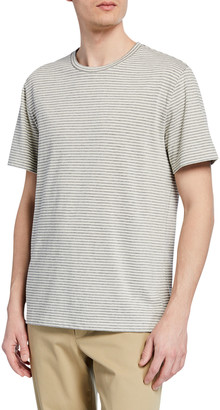 Vince Men's Shadow Stripe Crewneck T-Shirt