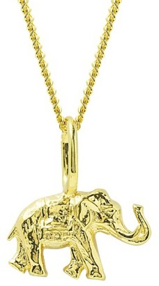 Katie Mullally Elephant Yellow Gold Plated Necklace