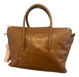 Miu Miu Bow bag Camel Leather Handbags