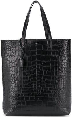 Saint Laurent crocodile-effect tote bag