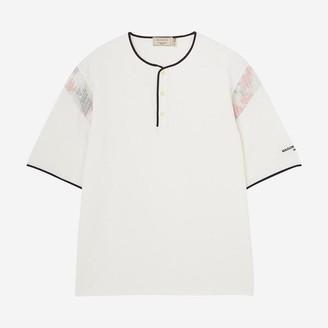 MAISON KITSUNÉ Venice Patched Tee Shirt Ecru - M