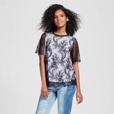 Who What Wear Women's Layered Lace T-Shirt
