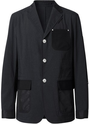 Burberry Slim-Fit Panelled Tailored Blazer