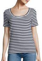 AG Jeans Breton Striped Cotton Tee