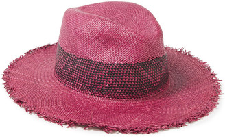 Rag & Bone Frayed Woven Straw Panama Hat