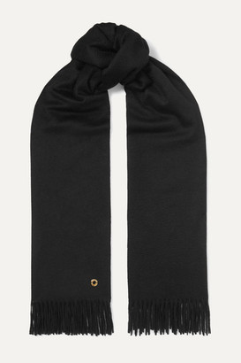 Loro Piana Opera Fringed Cashmere And Silk-blend Scarf - Black