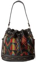 American West Black Canyon Drawstring Bucket Shoulder Handbags