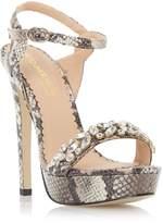 Head Over Heels by Dune MEGARA - NATURAL Jeweled Platform Sandal