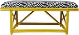 One Kings Lane Vintage Ficks Reed Yellow Royal Palm Bench