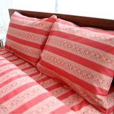 Amy Butler by Welspun Sari Bloom King Sheet Set in Red Stripe
